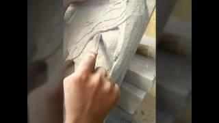 Horse , siporex relief mural carving