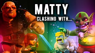 getlinkyoutube.com-MATTY clashing with... | Cleric-Reborn / Dan the Hero | Clash of Clans