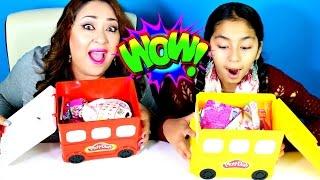 Monday Blind Bag Bin Play Doh Toys Surprises|B2cutecupcakes