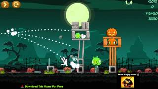 getlinkyoutube.com-Angry Birds Online Games Angry Birds Halloween Game Levels 1 - 9