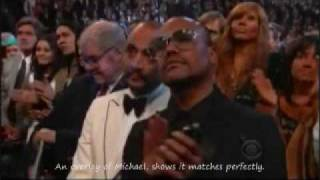 getlinkyoutube.com-Michael Jackson alive and disguise at the Grammy Awards?