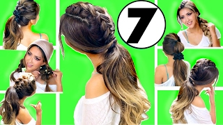 getlinkyoutube.com-★TOP 7 EASY WORKOUT / EVERYDAY HAIRSTYLES for 2017 👍🏽 |  Hairstyles for Long Medium Hair