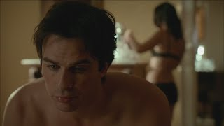 getlinkyoutube.com-The Vampire Diaries: 7x13 - Damon and Krystal after sex and Bonnie comes in [HD]
