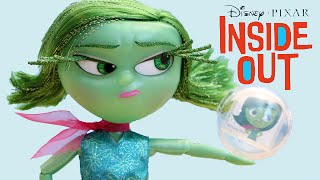 getlinkyoutube.com-Disney Inside Out Movie Deluxe Talking Disgust Doll Toy Review