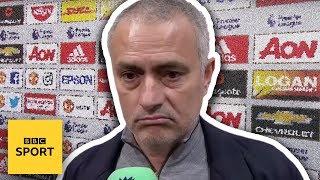 Jose Mourinho WALKS OUT of BBC interview - BBC Sport width=