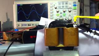 getlinkyoutube.com-Magnetic field around AC transformer core, Active load 100W.