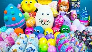 getlinkyoutube.com-75 SURPRISE EGGS! Play-Doh My Little Pony Disney Princess Toys Frozen Big Hero 6 Kinder Playtime
