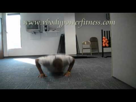 pushup with cross leg kicks