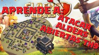 getlinkyoutube.com-¡¡¡APRENDE A: ATACAR ALDEAS ABIERTAS TH 9!!! - 100% y 3 ESTRELLAS EN AYUNTAMIENTO 9 - Clash of Clans