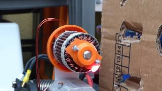 3d-printed brushless Motor - Test max. RPM (explosion)