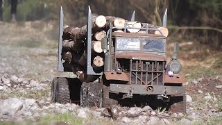 getlinkyoutube.com-FATBETTY in Gettin' Wood. // Home made steel RC logging truck.