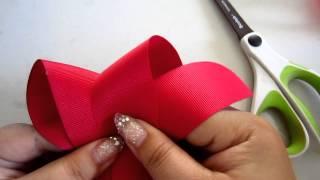 getlinkyoutube.com-Boutique Bow Tutorial - MCS