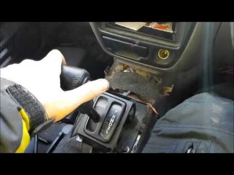 Замена тросика переключения скоростей на АКПП Suzuki Escudo 1999 TL52W J20A. Shift cable replacement