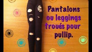 getlinkyoutube.com-Tutoriel: Pantalon troués pour Pullip.
