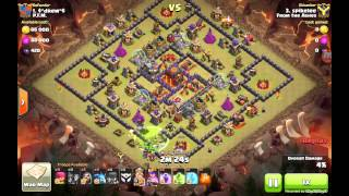 getlinkyoutube.com-Mass Witch Attack Against TH10 Base with Level 3 Infernos