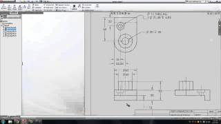 getlinkyoutube.com-Solidworks: Dimension a Drawing Sheet