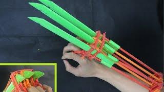 getlinkyoutube.com-Come rendere gli artigli di Wolverine | movimento automatico | paper claws