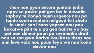 getlinkyoutube.com-G Bobby Bon Flow - Gang sa (with lyrics on  screen)
