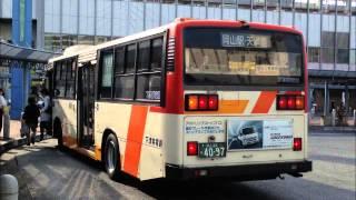 getlinkyoutube.com-【なんかごついワンステ】 下電バス  日野  KC-HU2MMCK  走行音 4097