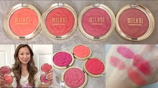 getlinkyoutube.com-Review & Swatches: Milani Rose Powder Blushes! NEW Spring 2014