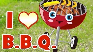 getlinkyoutube.com-BBQ Song | Learn Food Vocabulary