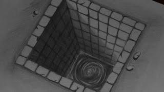 getlinkyoutube.com-menggambar dengan pensil 2b ilusi 3d  air dalam bak