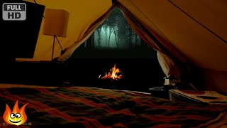 getlinkyoutube.com-Virtual Camping with Campfire, Crickets, Owls and Other Relaxing Forest Nature Sounds at Night