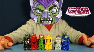 getlinkyoutube.com-Энгри Бёрдс Трансформеры Телеподс - игрушки - обзор на русском. Angry Birds Transformers Telepods