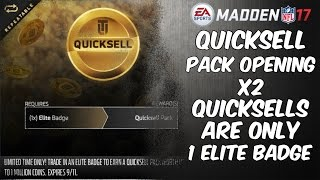 getlinkyoutube.com-QUICKSELL PACK OPENING x2! ONLY COST 1 ELITE BADGE NOW! | Madden 17 Ultimate Team | MUT 17