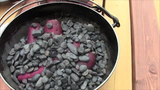 getlinkyoutube.com-大好きなキャンプ道具 ダッチオーブンで作る石焼き芋