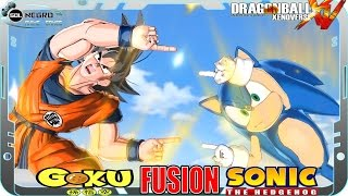 getlinkyoutube.com-Goku and Sonic Fusion: Gonic or Soku? Dragon Ball VS Sonic the Hedgehog  Xenoverse mod