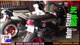 getlinkyoutube.com-Honda zoomer x 2015 VS Honda zoomer x 2015 new modified to rim
