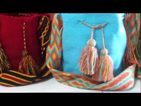 Mochilas wayuu tejidas en la guajira por mujeres indigenas