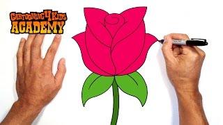getlinkyoutube.com-How to Draw a Rose- Art for Beginners