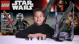 getlinkyoutube.com-KYLO REN'S COMMAND SHUTTLE - LEGO Star Wars Force Awakens Set 75104 Time-lapse, Unboxing & Review