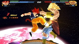 getlinkyoutube.com-Goku GT Super Saiyan God (Tailed version) VS Broly SSJ (DBZ Tenkaichi 3 mod)