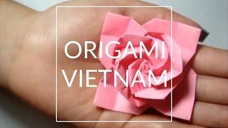 getlinkyoutube.com-[Hướng dẫn] Xếp hoa hồng giấy Origami kiểu 1 - Nghệ thuật xếp giấy Origami Nhật Bản