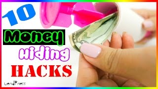 getlinkyoutube.com-10 Money Hiding Life Hacks Every Girl Should Know in case of an emergency