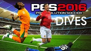 PES 2016 Diving for Penalties (fails + win)