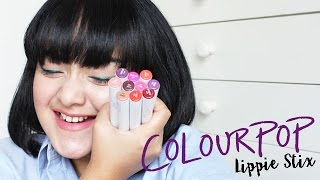 getlinkyoutube.com-COLOURPOP LIPPIE STIX REVIEW + LIP SWATCHES (BAHASA) | LIZZIE PARRA
