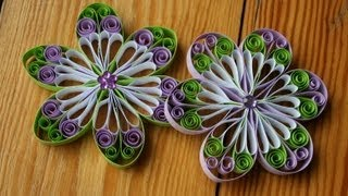 getlinkyoutube.com-Quilling  -  Blüte aus Papier selbermachen
