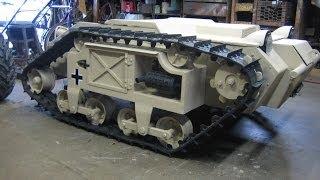 getlinkyoutube.com-Goliath Mini Tank Gokart First Drive