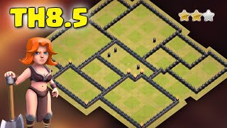 getlinkyoutube.com-Clash Of Clans - Town Hall 8.5 (TH8.5) War Base July 2016 ♦ Anti 3 Star ♦ NO X-BOW/AD/AT/WT