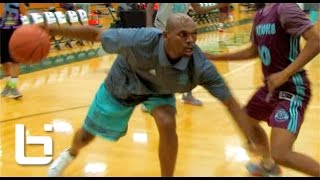 "getlinkyoutube.com-40Yr Old Jerry Stackhouse 1v1 Against HS Players At Adidas Nations! ""Easy Work"""