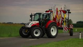 POTTINGER TOP twin rotor, centre swath rakes
