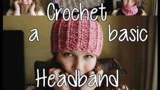 getlinkyoutube.com-1 Skein Wanders - Crochet a Basic Headband