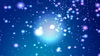 4K 10:00Min. *Blue Soft Floating Stars* 2160p Motion Background