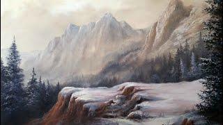getlinkyoutube.com-Paint with Kevin Hill - Soft Mountain Range