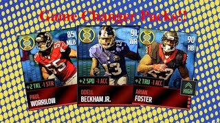 getlinkyoutube.com-Madden Mobile 16 #5 - 24 Game Changer Packs With Elite Pulls