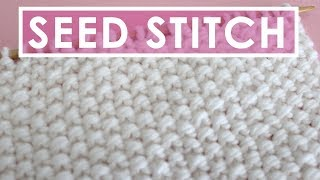 getlinkyoutube.com-How to Knit the SEED STITCH: Knitting Lessons for Beginners